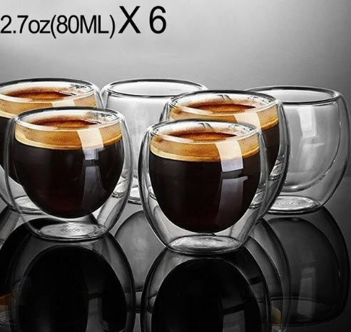 Double Walled Espresso Glass